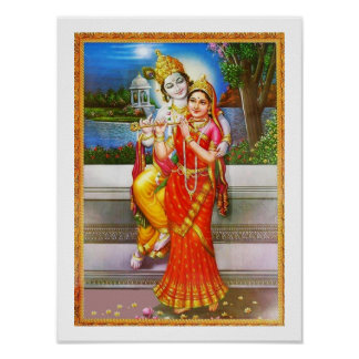 Devotion to Radha Krishna Poster
