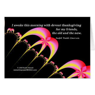 Devout thanksgiving for my friends card