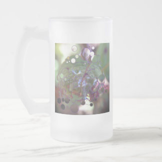 Dew Circles Frosted Glass Beer Mug