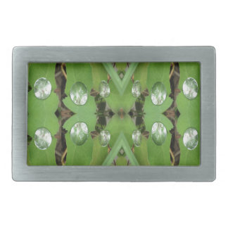 Dew Drops 1 Rectangular Belt Buckles
