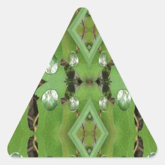 Dew Drops 1 Triangle Sticker