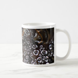 Dew drops in a spider net coffee mug