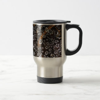 Dew drops in a spider net travel mug