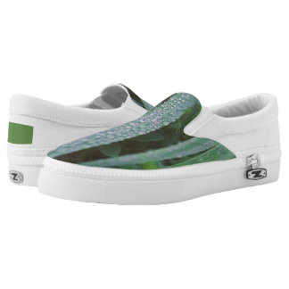 Dew drops in the grass Slip-On sneakers
