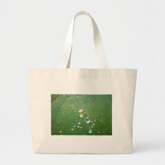 Dew Drops Large Tote Bag