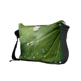 Dew Drops On A Leaf Commuter Bag