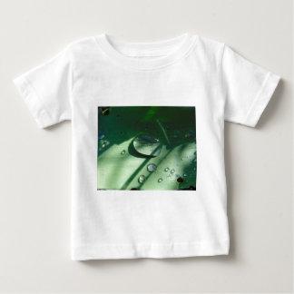Dew Drops On A Tulip Leaf Baby T-Shirt