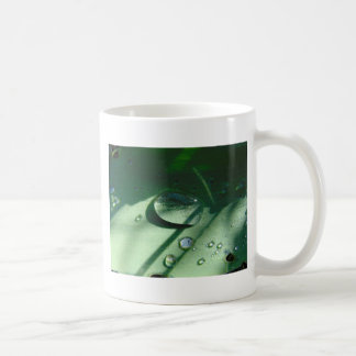 Dew Drops On A Tulip Leaf Coffee Mug
