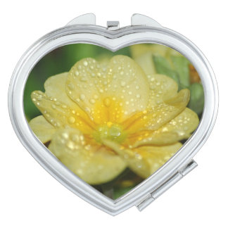 Dew on a Primrose Compact Mirrors