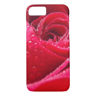 Dew on Red Rose iPhone 7 Case