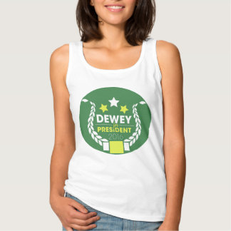 Dewey 4 Prez Tank Top (round logo)