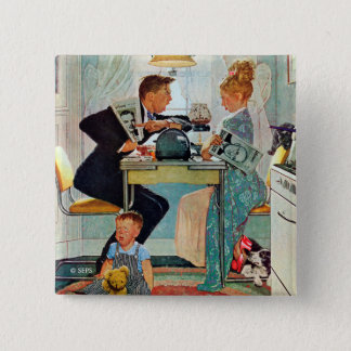 Dewey v. Truman 2 Inch Square Button