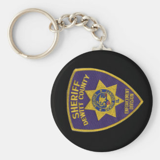DeWitt County Sheriffs Dept Patch Keychain
