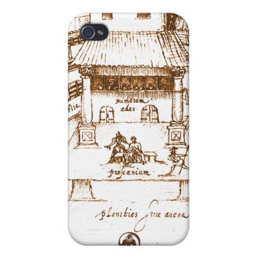 Dewitt's Swan Theatre Sketch iPhone 4/4S Cases