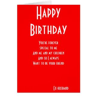 D'ex-mari toujours cartes d'anniversaire d'amis