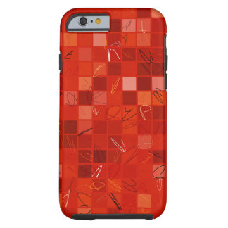 DEYTAQMU - Red Detail Tough iPhone 6 Case