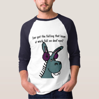 DF- Deaf Donkey Work Humor Shirt