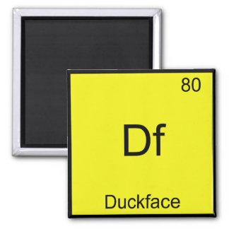 Df - Duckface Element Symbol Meme Funny Chemistry Square Magnet