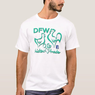 DFW Chicken Trader/Turquoise Graphics T-Shirt