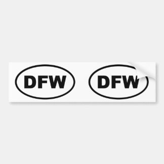 DFW Dallas Fort Worth Bumper Sticker