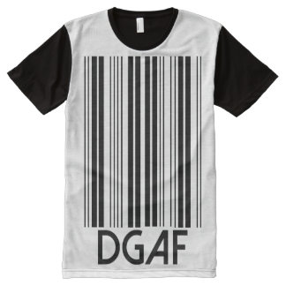 DGAF Barcode All-Over-Print T-Shirt