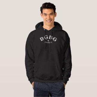 DGBG Vintage Men's Basic Hooded Sweatshirt