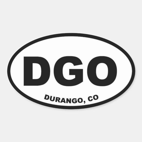 DGO Durango Colorado Oval Sticker