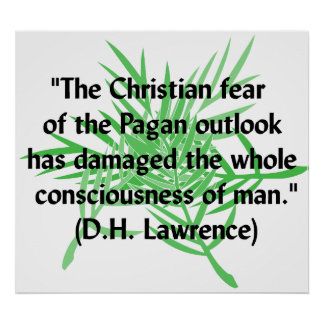 DH Lawrence Pagan Quote Poster