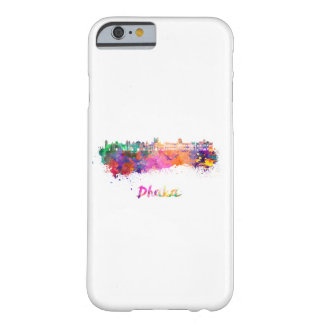 Dhaka skyline in watercolor barely there iPhone 6 case