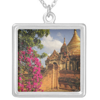 Dhamma Yazaka Pagoda at Bagan (Pagan), Myanmar Silver Plated Necklace