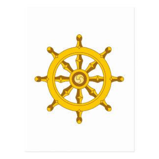 DHARMA BUDDHISM WHEEL POSTCARD