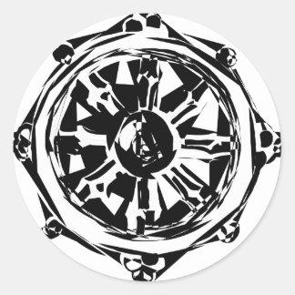 dharma classic round sticker