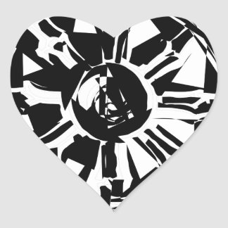 dharma heart sticker