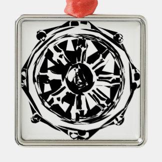 dharma metal ornament
