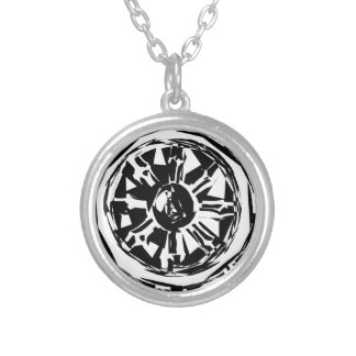 dharma silver plated necklace