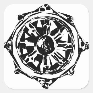 dharma square sticker