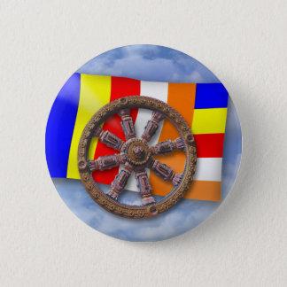 Dharma-Wheel 2 Inch Round Button