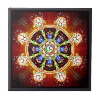 Dharma - wheel ceramic tile