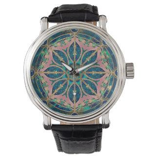 Dharma Wheel - Dharmachakra Gemstone & Gold Watch