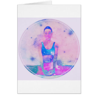 Dharma Yoga Girl Series Pink Card