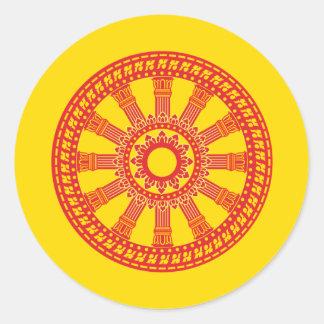 Dharmacakra - (Thailand) Design Classic Round Sticker