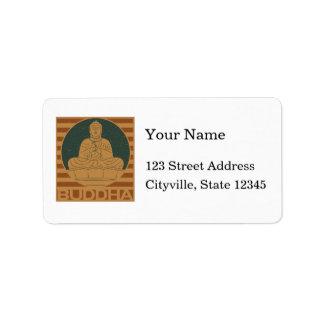 Dharmacharkra Buddha Mudra Label