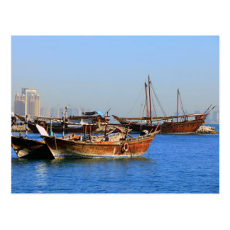 Dhows in Qatar Postcard