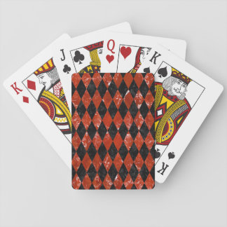 DIA1 BK-RD MARBLE PLAYING CARDS