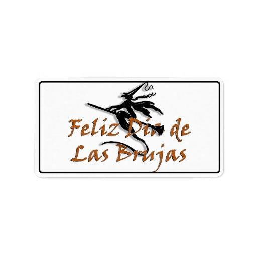 Dia de Las Brujas Étiquette D'adresse
