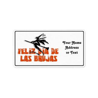 Dia de Las Brujas Étiquettes D'adresse