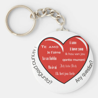 dia de las madres heart basic round button keychain