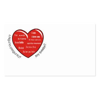 dia de las madres heart business card template