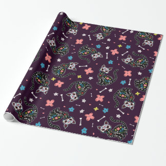 Dia de los Gatos Wrapping Paper