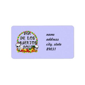 Dia De Los Muertos Étiquette D'adresse